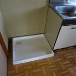 流し台横に洗濯機が設置できます
