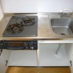 2口ガスコンロ付システムキッチンです(キッチン)