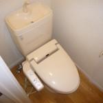 温水洗浄機能付便座です