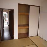 和室に収納スペースがあります